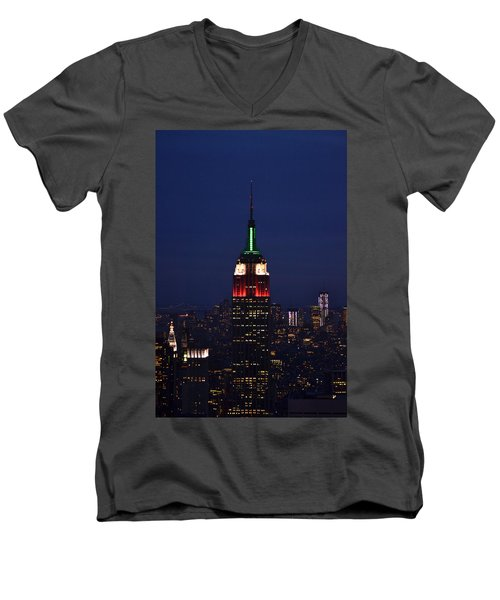 Empire State Building1 Men's V-Neck T-Shirt