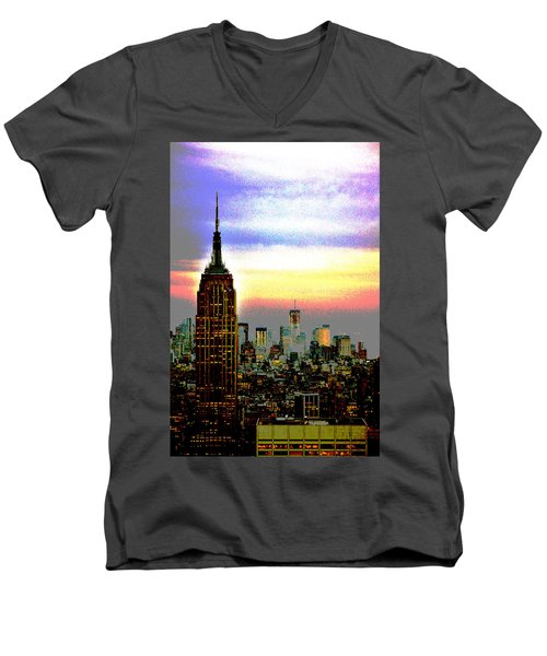 Empire State Building4 Men's V-Neck T-Shirt
