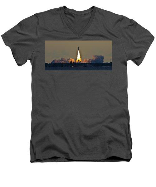 Endeavor Blast Off Men's V-Neck T-Shirt by Dorothy Cunningham