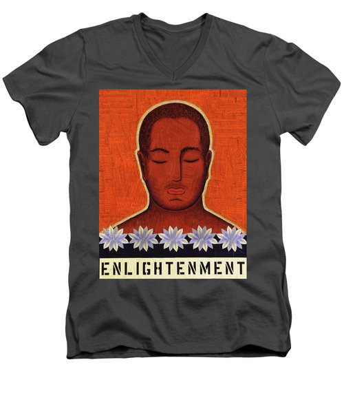 Men's V-Neck T-Shirt featuring the mixed media Enlightenment by Gloria Rothrock