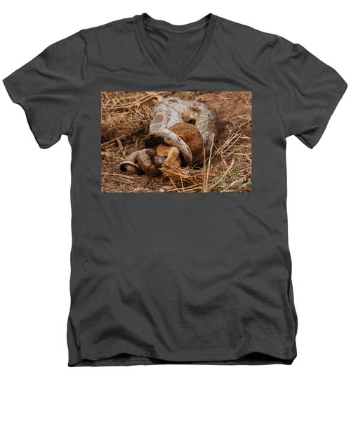 Men's V-Neck T-Shirt featuring the photograph Entrapped by Fotosas Photography