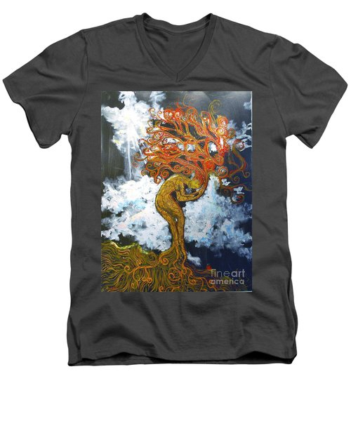Eve Men's V-Neck T-Shirt