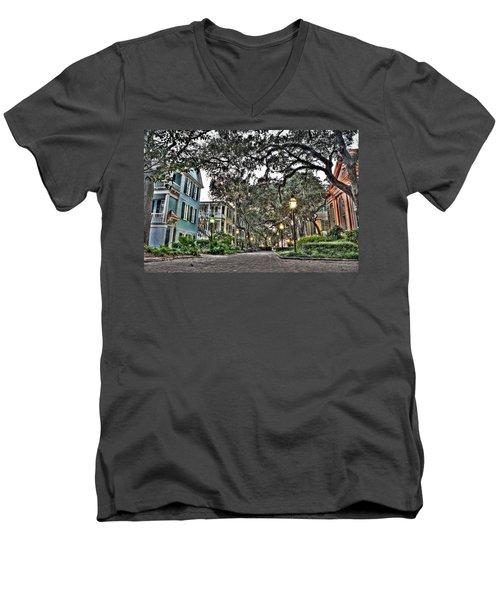 Evening Campus Stroll Men's V-Neck T-Shirt