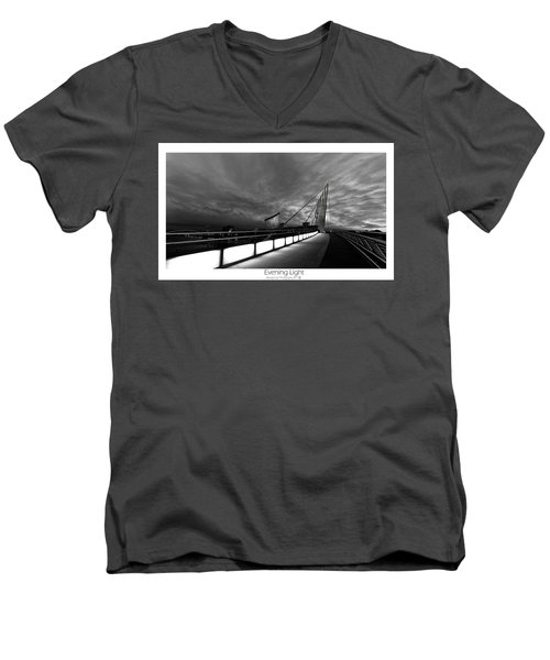 Men's V-Neck T-Shirt featuring the photograph Evening Light by Beverly Cash