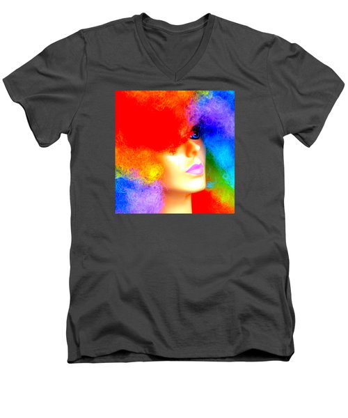 Men's V-Neck T-Shirt featuring the photograph Eye Of The Rainbow by John King