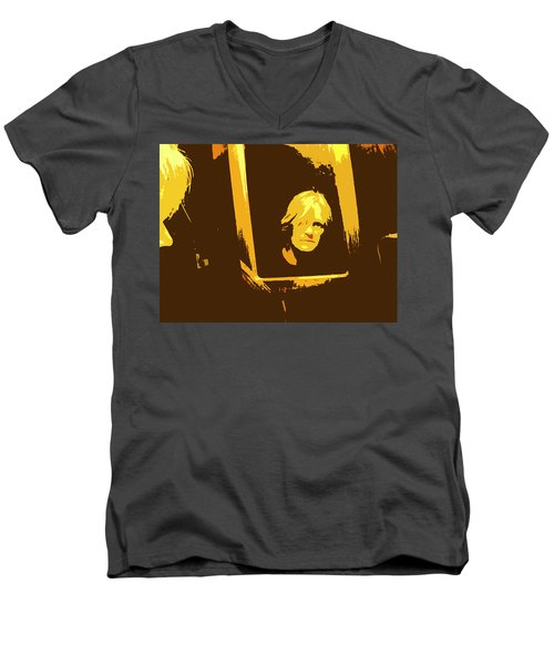 Face In The Mirror Men's V-Neck T-Shirt