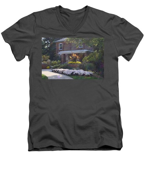 Men's V-Neck T-Shirt featuring the photograph Fall Cowles by Joseph Yarbrough