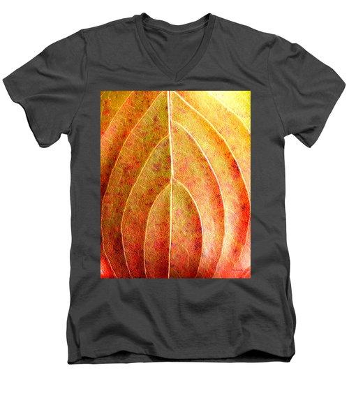 Fall Leaf Upclose Men's V-Neck T-Shirt