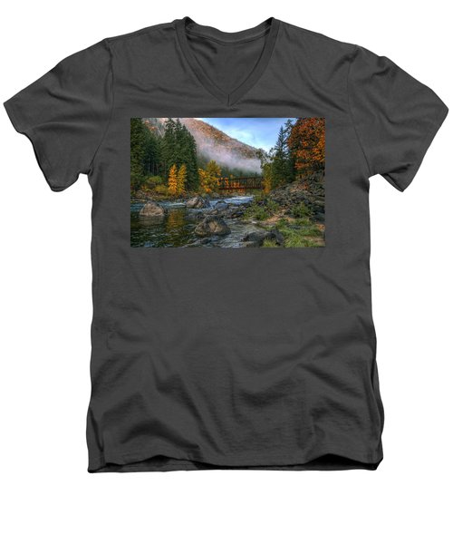 Fall Up The Tumwater Men's V-Neck T-Shirt