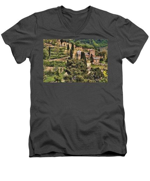 Farm Orvieto Italy Men's V-Neck T-Shirt by Hugh Smith