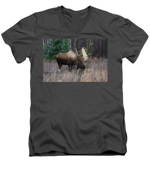 Men's V-Neck T-Shirt featuring the photograph Feeding by Doug Lloyd