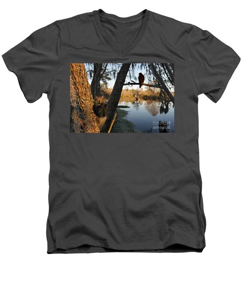 Men's V-Neck T-Shirt featuring the photograph Feel Like Being Watched by Dan Friend