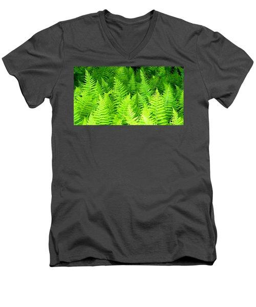 Ferns Galore Filtered Men's V-Neck T-Shirt