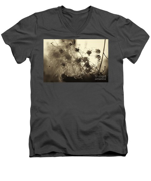 Men's V-Neck T-Shirt featuring the photograph Filaments by Eunice Gibb