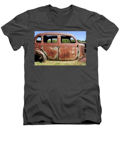 Men's V-Neck T-Shirt featuring the photograph Final Destination by Fran Riley