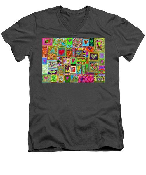 find U'r Love found    v15 Men's V-Neck T-Shirt