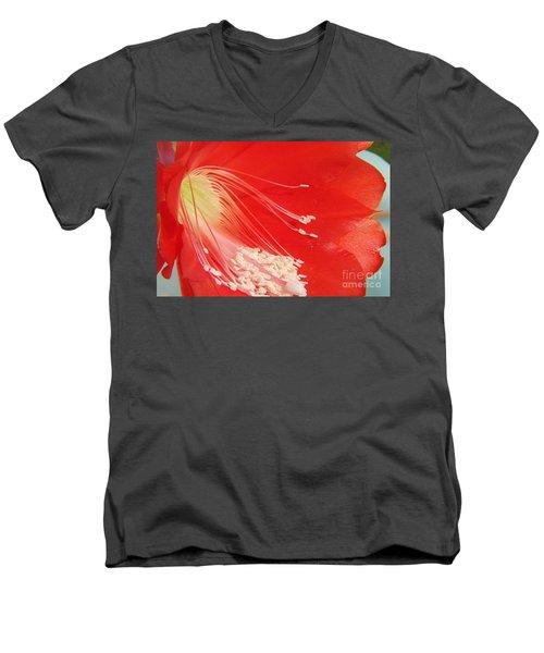 Fire Cactus Men's V-Neck T-Shirt