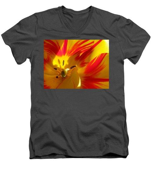 Fire Tulip Men's V-Neck T-Shirt