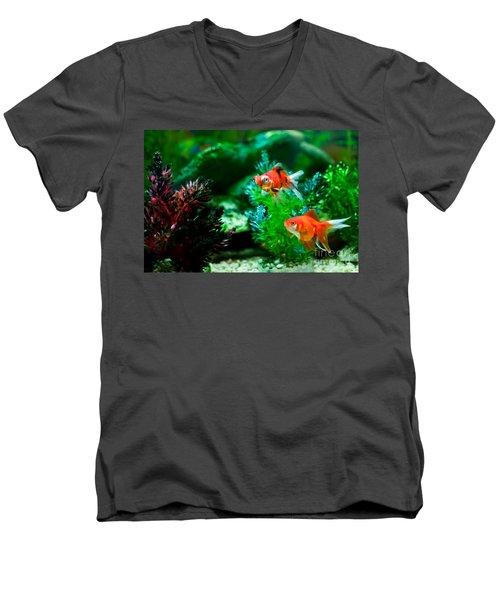 Men's V-Neck T-Shirt featuring the photograph Fish Tank by Matt Malloy