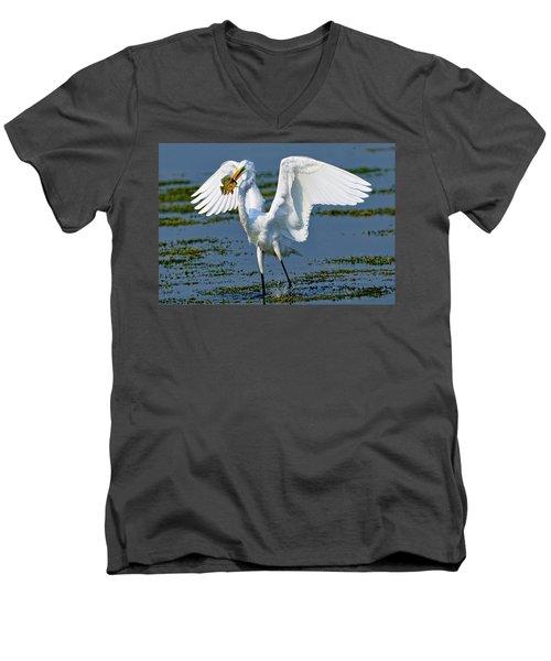 Fish'n In The Morning Men's V-Neck T-Shirt