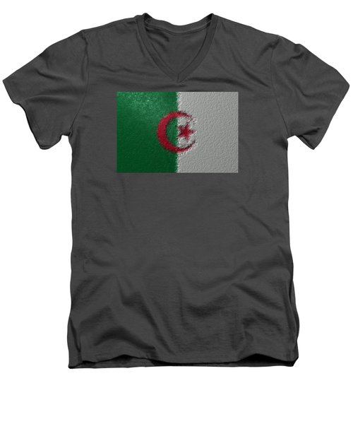 Flag Of Algeria Men's V-Neck T-Shirt by Jeff Iverson
