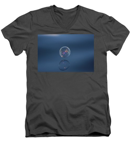 Men's V-Neck T-Shirt featuring the photograph Floating On The Breeze by Cathie Douglas