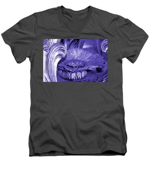 Flower In Stone Men's V-Neck T-Shirt