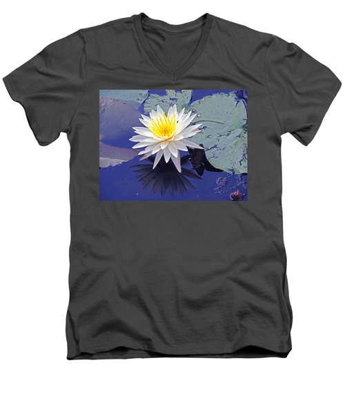 Flowering Lily-pad- St Marks Fl Men's V-Neck T-Shirt