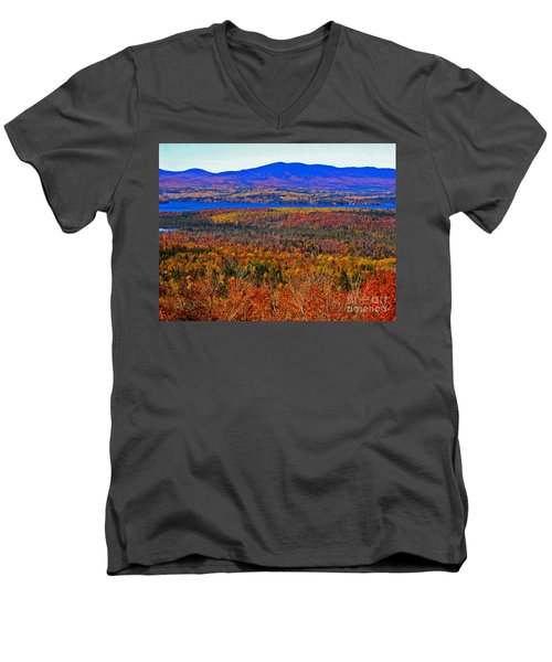 Foliage From Height Of Land Men's V-Neck T-Shirt