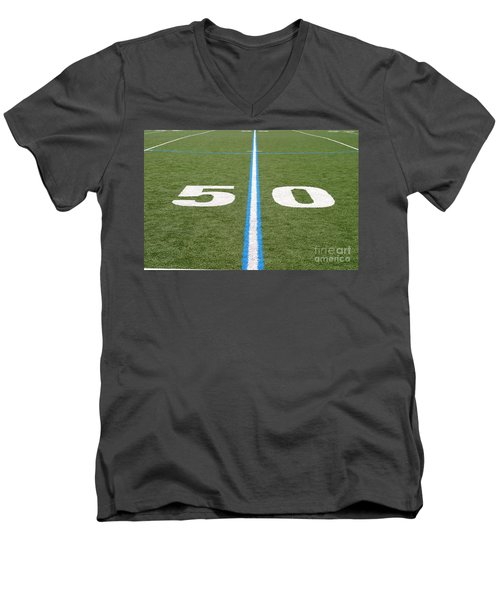 Football Field Fifty Men's V-Neck T-Shirt