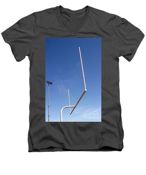 Men's V-Neck T-Shirt featuring the photograph Football Goal by Henrik Lehnerer