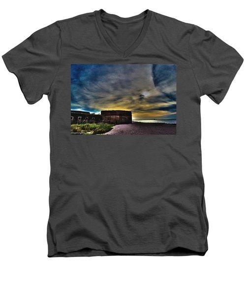 Fort Clinch Men's V-Neck T-Shirt by Shannon Harrington