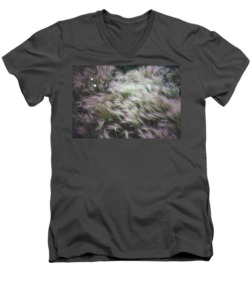 Foxtail Barley And Campion Men's V-Neck T-Shirt