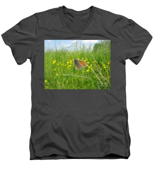 Men's V-Neck T-Shirt featuring the photograph Fragile Beauty #02 by Ausra Huntington nee Paulauskaite
