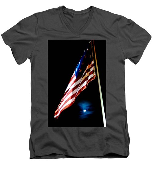 Flag On Federal Hill Men's V-Neck T-Shirt