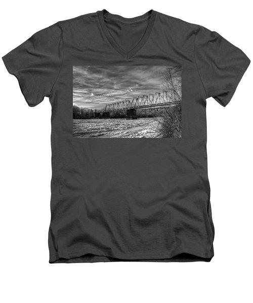 Frozen Tracks Men's V-Neck T-Shirt