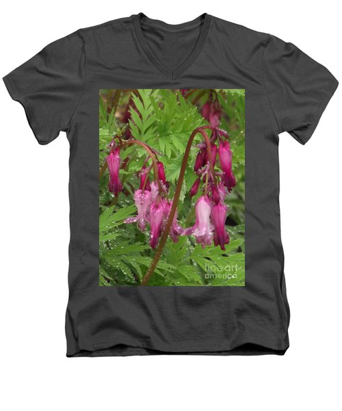 Garden Rain Drops Men's V-Neck T-Shirt