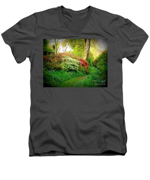 Gardens Of The Old Rectory Men's V-Neck T-Shirt