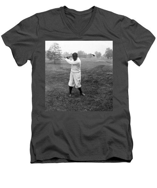 Men's V-Neck T-Shirt featuring the photograph Gene Sarazen - Professional Golfer by International  Images