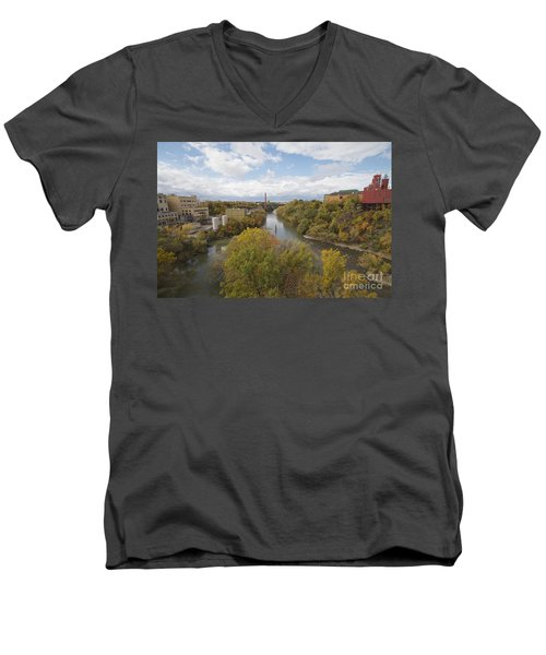 Men's V-Neck T-Shirt featuring the photograph Genesee River by William Norton
