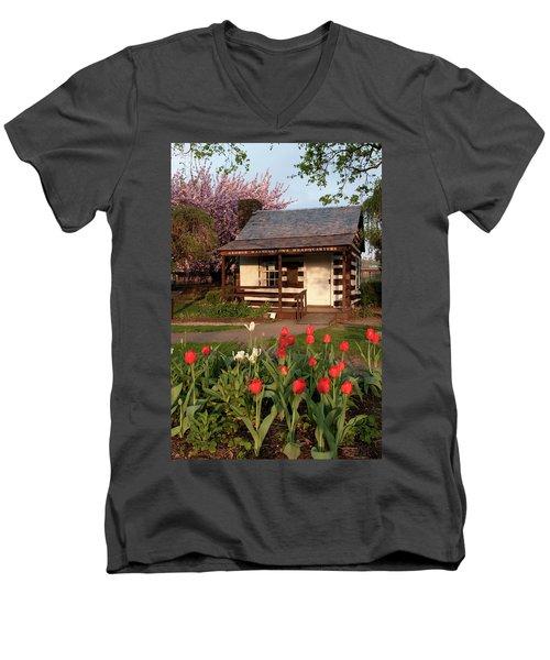 George Washington's House Men's V-Neck T-Shirt by Jeannette Hunt
