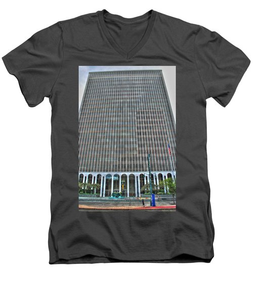Men's V-Neck T-Shirt featuring the photograph Giant Bank Of M And T by Michael Frank Jr