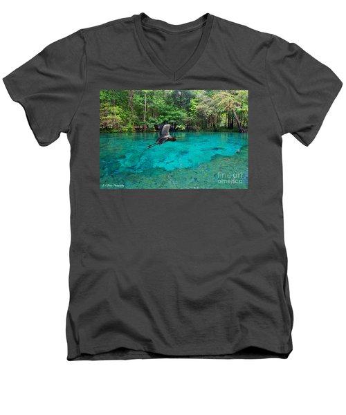 Ginnie Springs Men's V-Neck T-Shirt