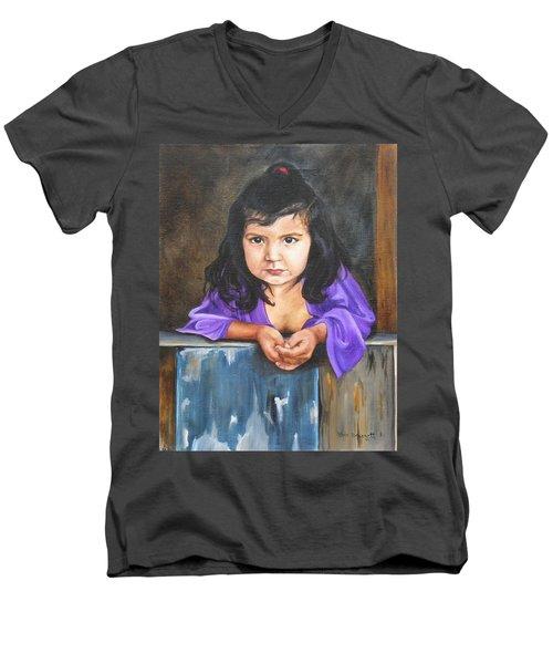 Girl From San Luis Men's V-Neck T-Shirt