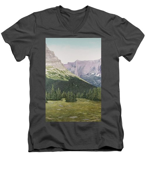 Glacier National Park Montana Men's V-Neck T-Shirt
