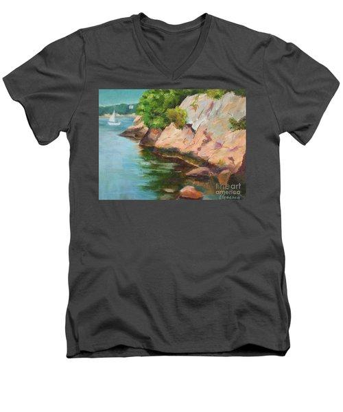 Gloucester Sail Boat Men's V-Neck T-Shirt