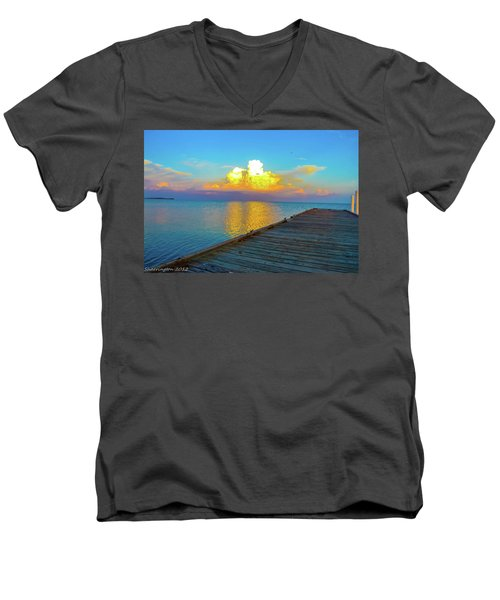 Gods' Painting Men's V-Neck T-Shirt by Shannon Harrington