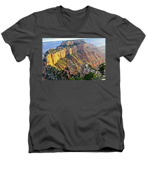 Gold Rim Men's V-Neck T-Shirt