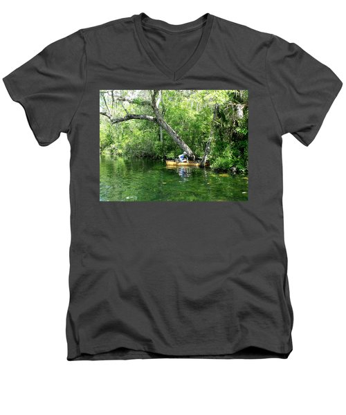 Golden Canoe Launch Men's V-Neck T-Shirt