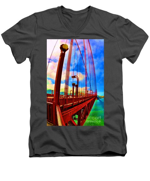 Golden Gate Bridge - 8 Men's V-Neck T-Shirt